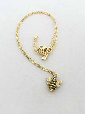 AU51.70 • Buy NWT Kate Spade Gold Plated Picnic Perfect Pave Bee Pendant Necklace O0RU2802