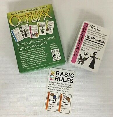 Wizard Of Oz Card Game Incomplete Looney Labs Night Family Movie Partial Box Toy • 19.99$
