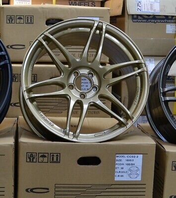 AU999 • Buy Concave Concept CC02 18x9.5 +38 PCD5x100 Wheels Rally Gold Color EOFY Clearance