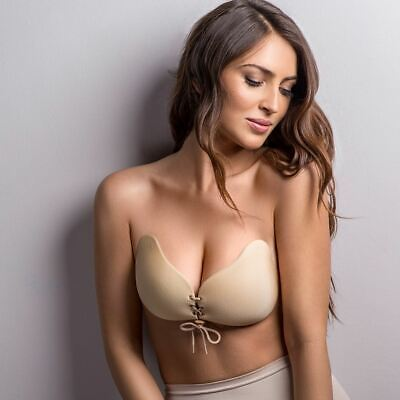 JML Star Bra Backless Strapless Stick-on Gel Bra With Lace Cleavage Control • 20.19£