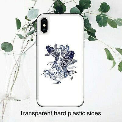 £5.99 • Buy Japanese Navy Koi Fish And Waves Art Case Cover IPhone Samsung Huawei Google