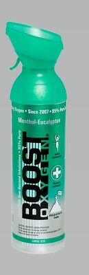 Boost Oxygen 9l Oxygen Therapy Oxygen In A Can Menthol Flavour Copd Asthma C-19 • 21.99£