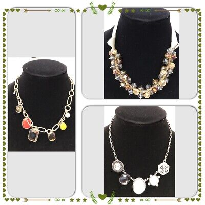 $ CDN37.55 • Buy Lot Of 3 Necklaces 2 Lia Sophia And 1 Unknown Brand, NWOT