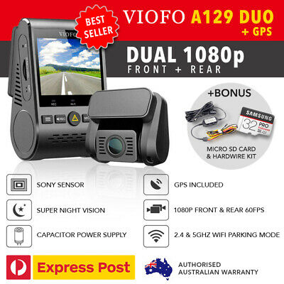 AU239 • Buy Viofo A129 DUO Dual Lens Dash Camera 1080P + GPS + WIFI 5Ghz + HW KIT & 32GB MSD