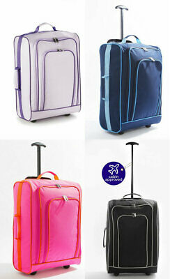 £14.99 • Buy Lightweight 50x34x19 Hand Luggage Trolley Bag All Cabin Flight Suitcase Case 33L