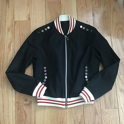 9c08d16f2 Sz 52 Large Mens Gucci Bomber Jacket W/ Grommets Detail Black • 400.00$