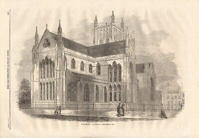 £14.99 • Buy 1861 Antique Print- Worcester Cathedral