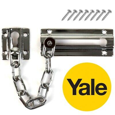 YALE DOOR CHAIN ID CALLER Restrictor Latch Bolt Slide Guard Home Security Lock • 5.61£