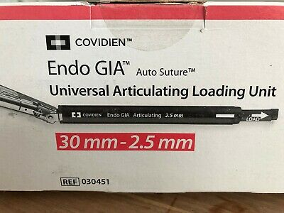 $299 • Buy Covidien Endo Gia Universal Articulating Loading Unit 30mm-2.5mm REF: 030451