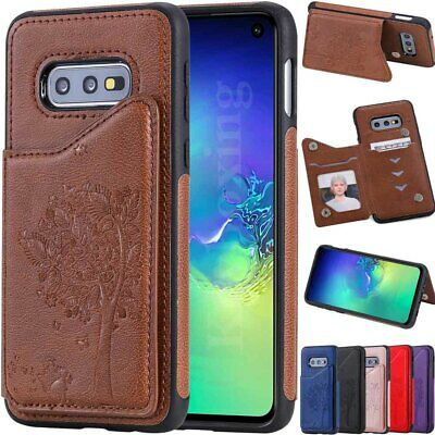 $ CDN2.52 • Buy Leather Wallet Card Slot Flip Case Cover For Samsung Galaxy S10 S9 S8 Plus Note9