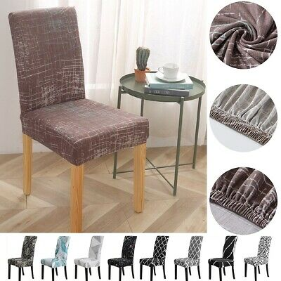 AU28.87 • Buy 4/6pcs Stretch Dining Chair Cover Removable Slipcover Washable Banquet Furniture