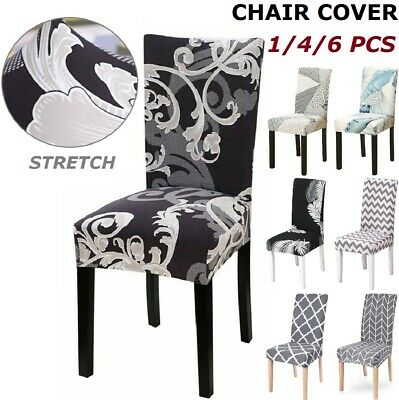 AU37.99 • Buy 4/6pcs Stretch Dining Chair Cover Removable Slipcover Washable Banquet Furniture