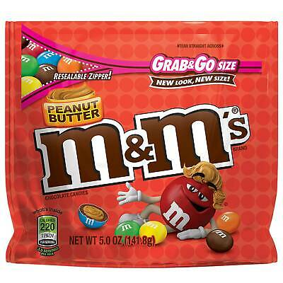$34.52 • Buy M&M'S Peanut Butter Chocolate Candy Grab & Go Bulk Size Bag (5 Ounce, Pack Of 8)