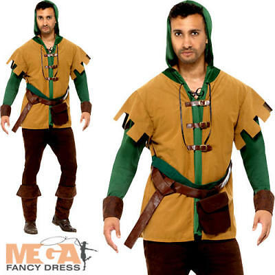 Robin Hood Mens Fancy Dress Medieval Hunter Theif Adults World Book Day Costume  • 24.99£