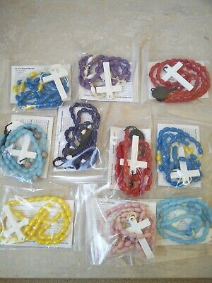 £0.99 • Buy Corded Plastic Rosary, Brand New - Available If Different Colour Beads