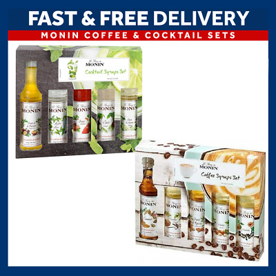 Monin Syrup Gift Set Bottle 5 X 5cl Syrups Coffee / Cocktail Gift Set  • 9.45£