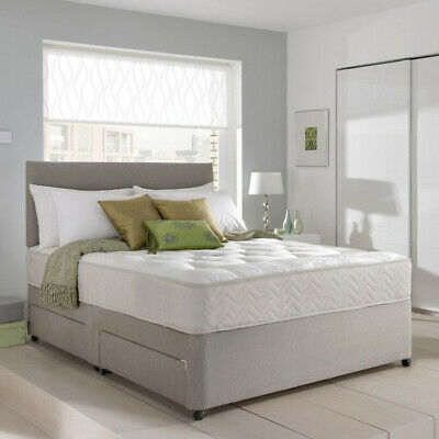 £224.95 • Buy MEMORY FOAM DIVAN BED SET WITH MATTRESS AND HEADBOARD 3FT 4FT6 Double 5FT King