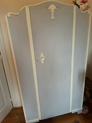 Annie Sloan Painted Cupboard Wardrobe Up Cycled Shabby Chic Vintage • 45£