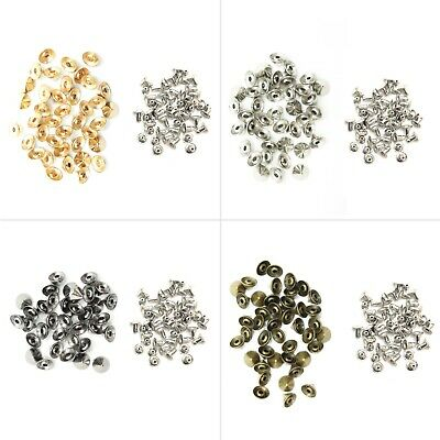 9mm X 6mm 100pcs Spike Cone Rivet Brass With Pins For Clothes Leather Jacket DIY • 6.95£