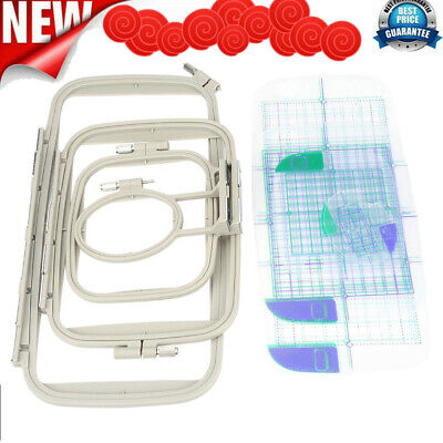 £22.23 • Buy Embroidery Frame Hoops Set For Brother PE700 780D Innovis Sewing Machine Parts