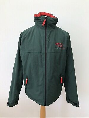 cf2871c67be113 Official Jaguar Racing Men's Green Hooded Jacket Inner Pockets Size M •  112.46$