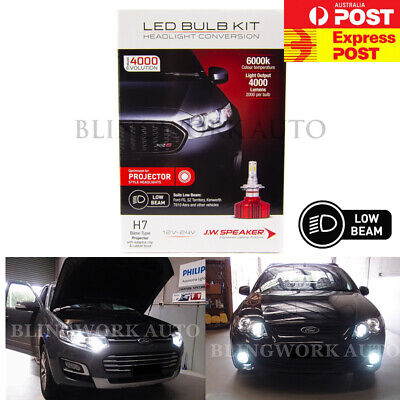 AU179.99 • Buy JW Speaker H7 LED PROJECTOR Low Beam Kit For Ford Falcon FG MK2 XR6 Territory SZ