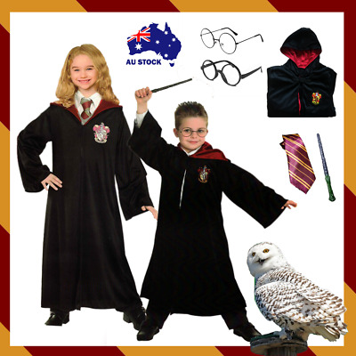 AU34.99 • Buy Harry Potter Costume Magic Sound Wand Tie Glasses Kids Party Book Week New Year