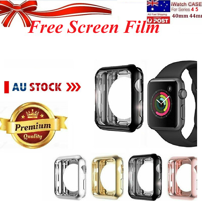 AU8.99 • Buy For Apple Watch 360* Series 4 5 IWatch 40 44mm Perfect Fit Screen Protector Case
