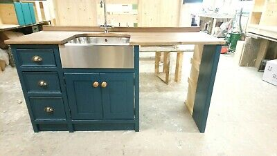 £1450 • Buy Bespoke Pine Freestanding Unit With Stainless Steel Butler Sink.
