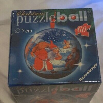 $18 • Buy Ravensburger Christmas Puzzle Ball - 60 Pieces 7 Cm Santa And Mrs. Clause