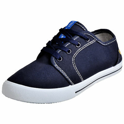 Boys VOI JEANS BRONSON Plimsolls / Pumps NAVY SIZE UK4 EU37 + Shoe Bag  • 11.95£
