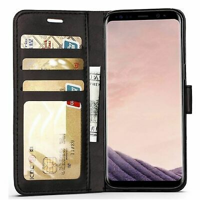 $ CDN6.16 • Buy For Samsung Galaxy S6 Edge S8 S9 Plus Case Magnetic Flip Genuine Leather Wallet