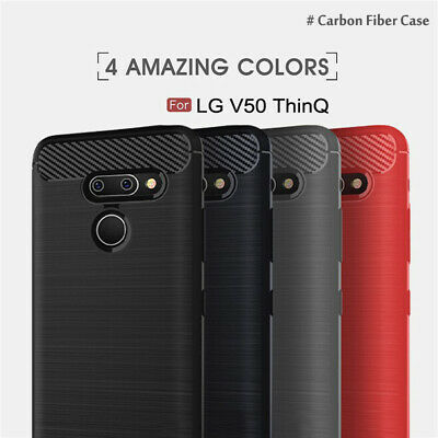 AU7.99 • Buy Carbon Fiber Hybrid Anti Knock Heavy Duty Shockproof Case Cover For LG V50 ThinQ