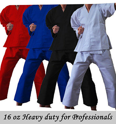 £19.99 • Buy Professional Heavy 16 Oz Adults/Kids White Black Red Karate Suit GI Martial Arts
