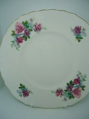 Royal Osborne Cake Plate Pink Roses Fine Bone China Vintage British • 9.99£