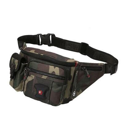Male Waist Pack Waterproof Polyester Swiss Camouflage Belly Fanny Pocket Bag • 32.69£