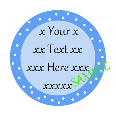 Personalised Stickers Christening Baby Shower Party Bags Sweet Cone Labels • 1.30£