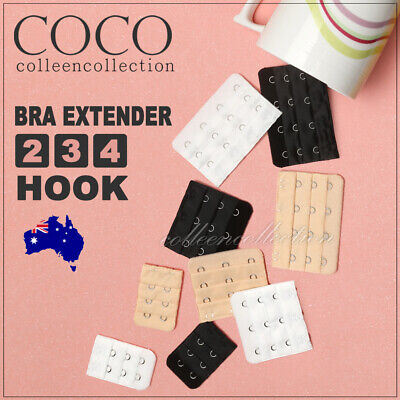 AU2.15 • Buy Clip On Bra Extender 2 3 4 Hook Maternity Plus Size Bra Strap Extension All Cup
