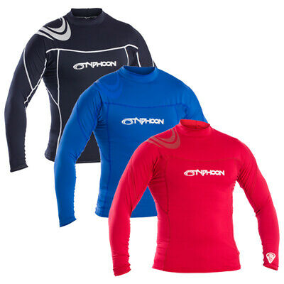 Typhoon Mens Long Sleeve Rash Vest / Base Layer / Kayak / Watersports • 12.99£