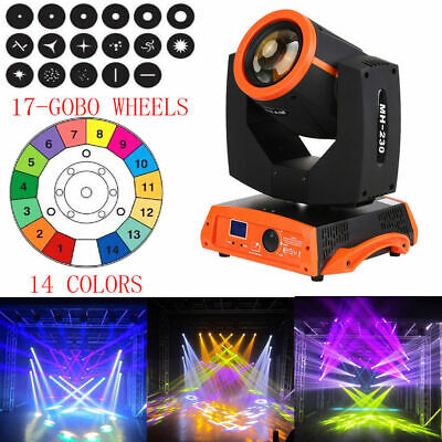230W 7R LED ZOOM Beam Moving Head Stage Light RGBW Gobo 16CH DMX DJ Party Disco • 266.39£