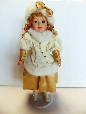 $ CDN25.99 • Buy Victorian Star Porcelain Doll With Display Stand Collector's Edition - 16
