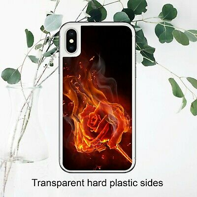 £3.49 • Buy Gothic Rose Flaming Burning Emo Art Case Cover For IPhone Samsung Huawei Google
