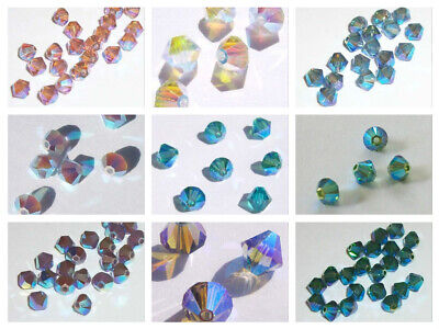 $5.75 • Buy Swarovski Bicone Austrian Crystal Beads Faceted  Choose 3mm 4mm 6mm  ALL AB2X