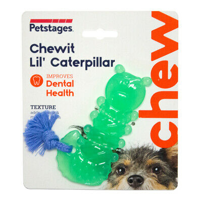£8.54 • Buy Petstages Chewit Lil' Caterpillar Puppy & Small Dog Toy | Orka Rubber Rope Chew