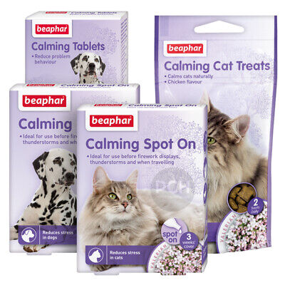 £6.99 • Buy Beaphar Calming Spot On Tablets Or Treats Reduces Stress In Dogs And Cats