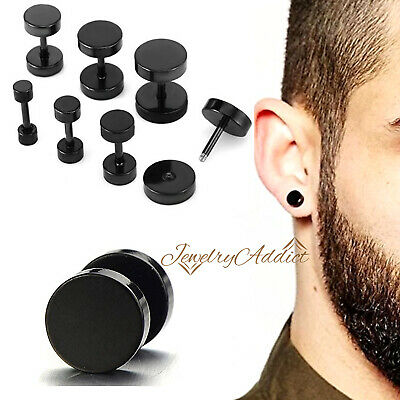 AU5.87 • Buy 16g Fake Earplug Round Stretcher Plug Tunnel Surgical Steel Ear Piercing Earring