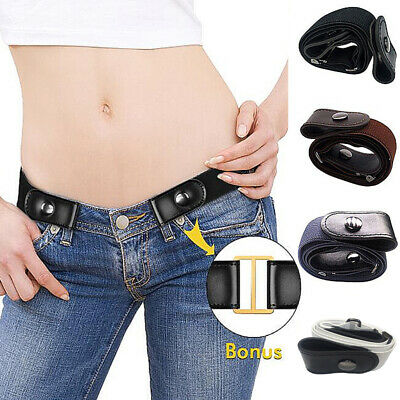 $1.99 • Buy Women Invisible Elastic Buckle-Free Belt For Jeans No Bulge Hassle Waistband Hot