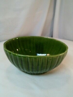 $17.99 • Buy Vtg Haeger USA 4020 Green Ribbed Planter MID-Cent Pottery Centerpiece Candy Dish
