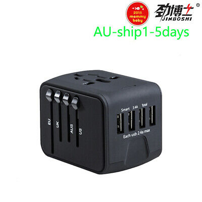 AU19.99 • Buy Travel Adapter International Universal Power Adapter All-in-one With 3.4A 4 USB