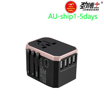 AU18.99 • Buy Travel Adapter International Universal Power Adapter For 5.6A 4USB  AU/UK/US/EU